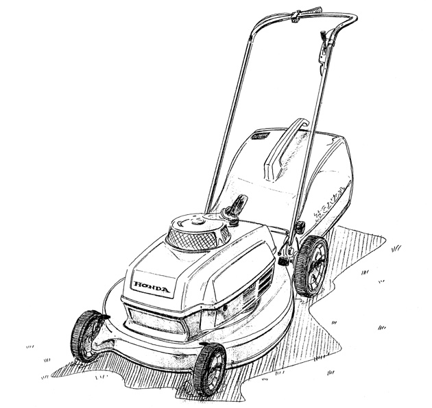 Lawn mowers cartoon coloring pages sketch coloring page for Lawn mower coloring page