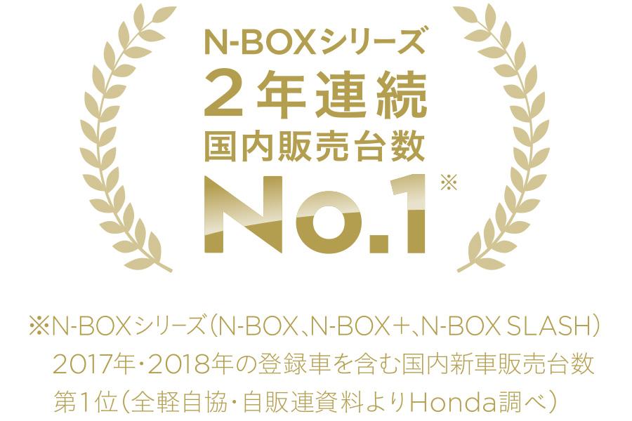 N-BOX シリーズ 2年連続 国内販売台数No.1
