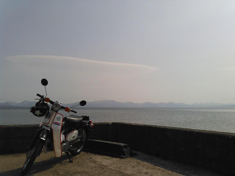 天鏡湖と小さな相棒