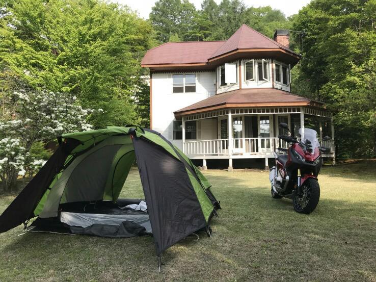 納車後、初ツーリング&キャンプ