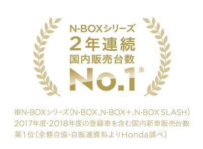 N-BOXシリーズ2年連続国内販売台数No.1