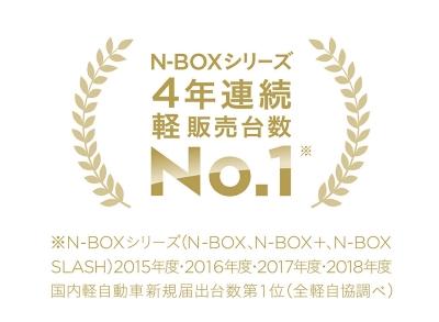 N-BOXシリーズ4年連続軽販売台数No.1