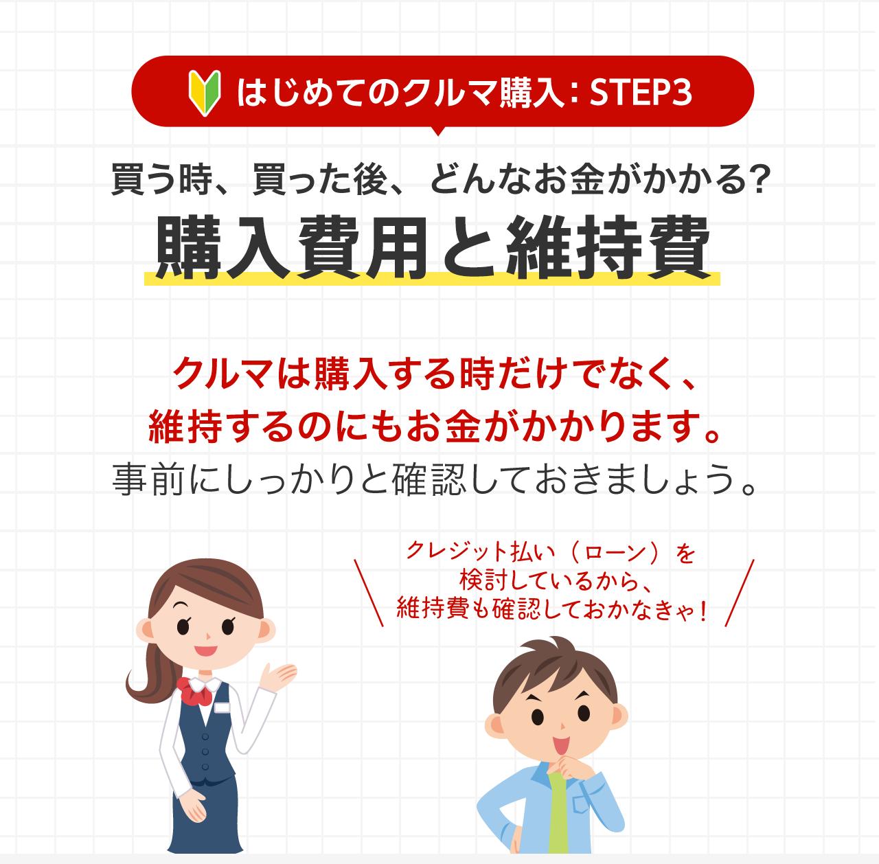 STEP.3 購入費用と維持費 - はじめてのクルマ購入(基礎知識)|Honda ...