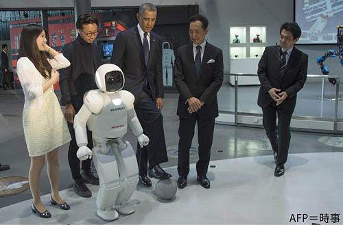 米国バラク・オバマ大統領とASIMO 米国バラク・オバマ大統領とASIMO   ASIMO、米国