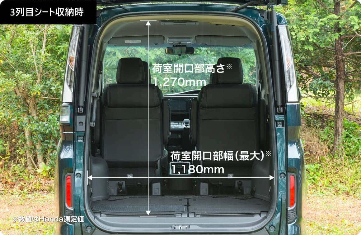 ステップワゴンRP5の荷室サイズ