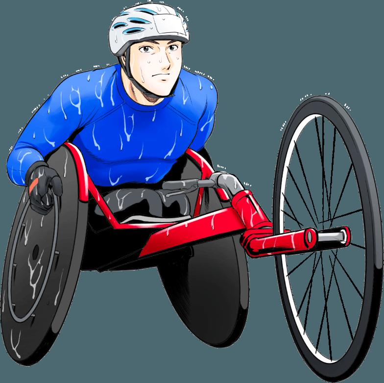 マンガ車いすマラソン | Hondaアスリートクラブ | Honda